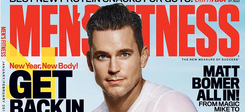 """Matt Bomer on """"Men's Fitness"""" Cover"""