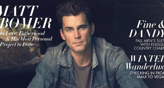 Matt Bomer is on Modern Luxury cover!