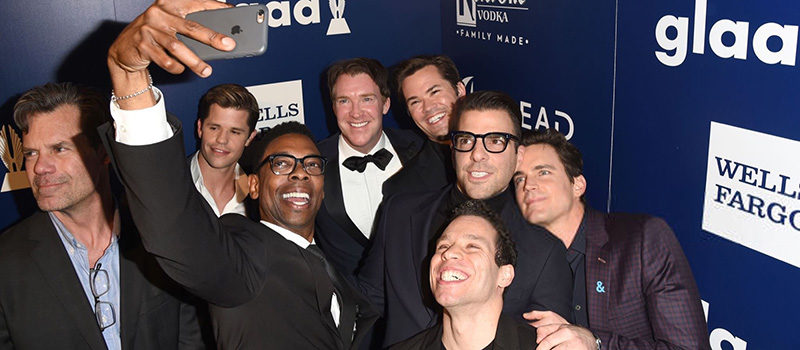 'The Boys in the Band' cast celebrating Jim Parsons at GLAAD Media Awards
