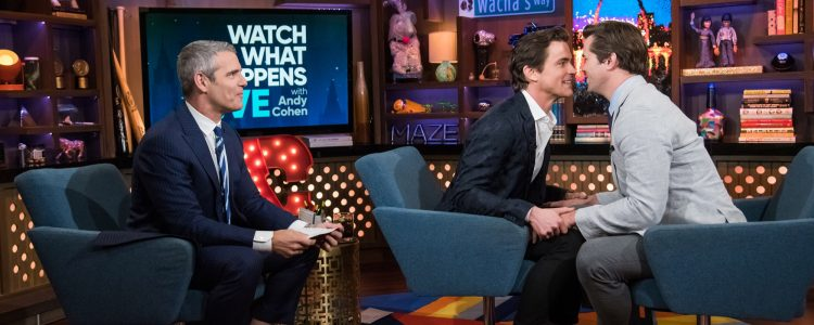 "Matt Bomer and Andrew Rannells visits ""Watch What Happens Live"""